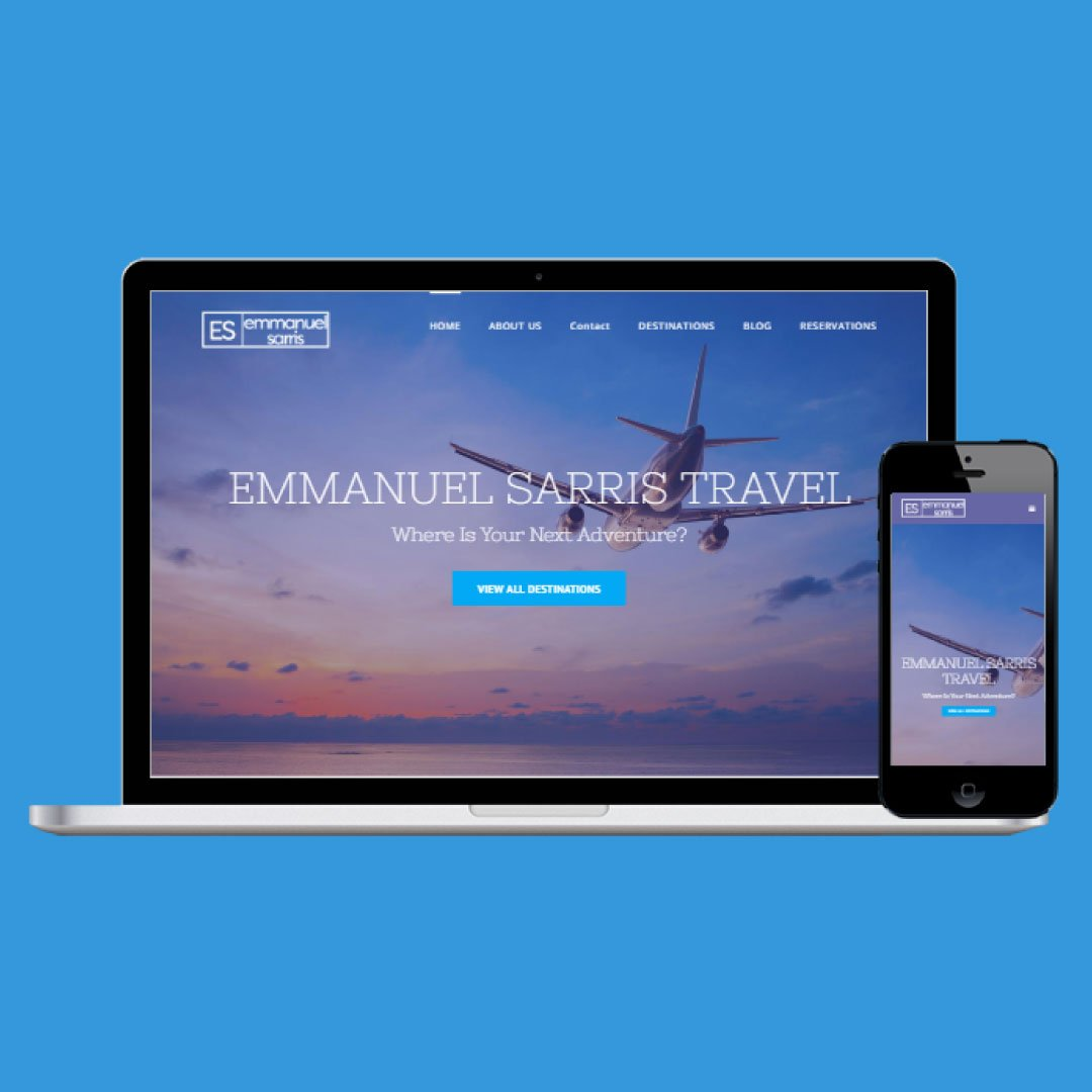 Responsive Web Design - Travel Services